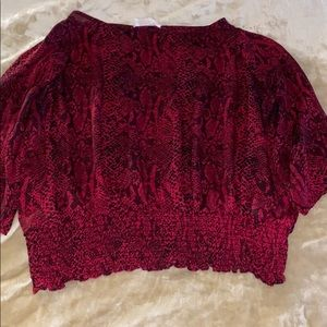Michael Kors red  Snake Skin Top Size Large